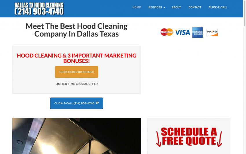 Dallas Hood Cleaning