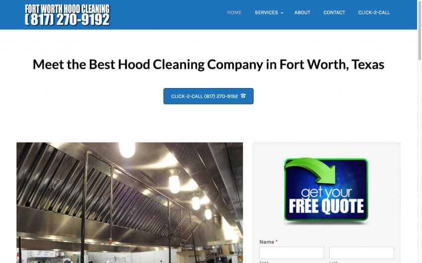 Fort Worth Hood Cleaning TX