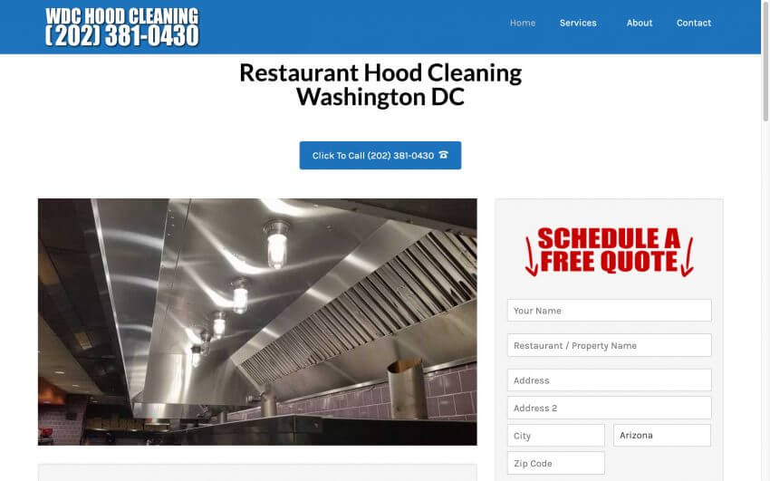Washington DC Hood Cleaning