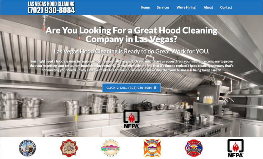 Las Vegas Hood Cleaning Cover Pic